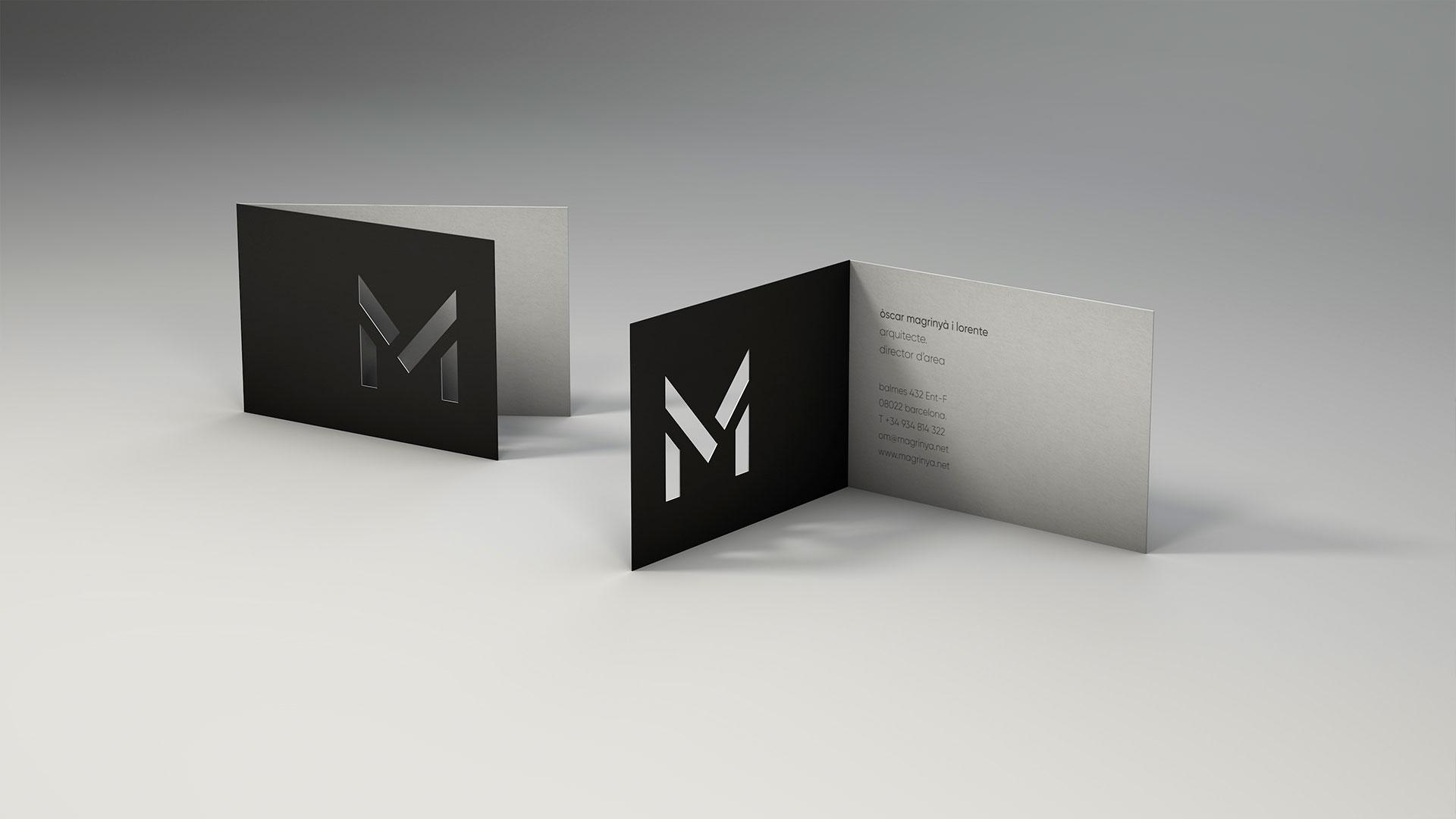 Diseño marca e identidad corporativa Barcelona Magrinyà - tarjetas