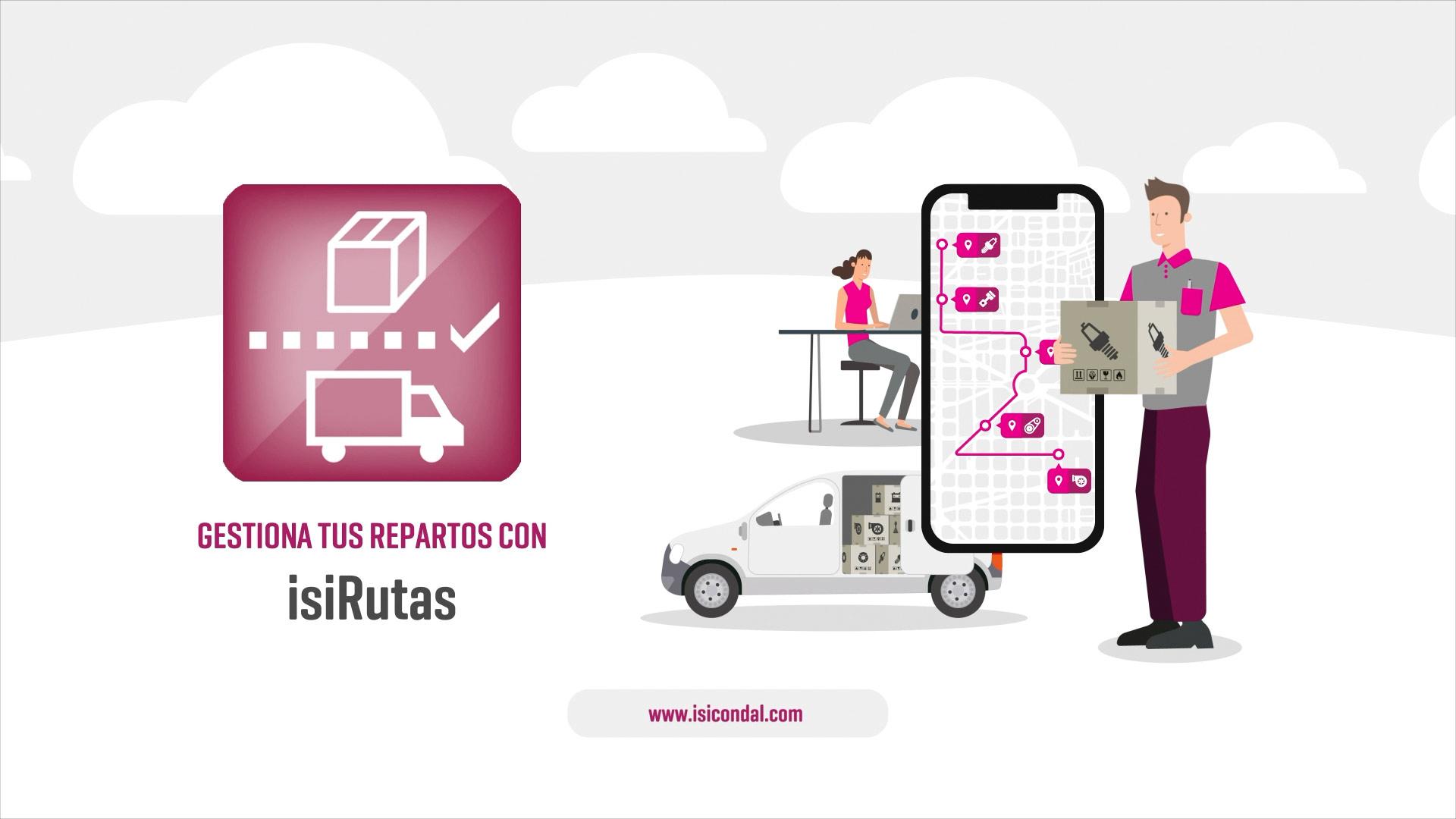Diseño vídeo motion graphics Vídeo Corporativo ISI Rutas
