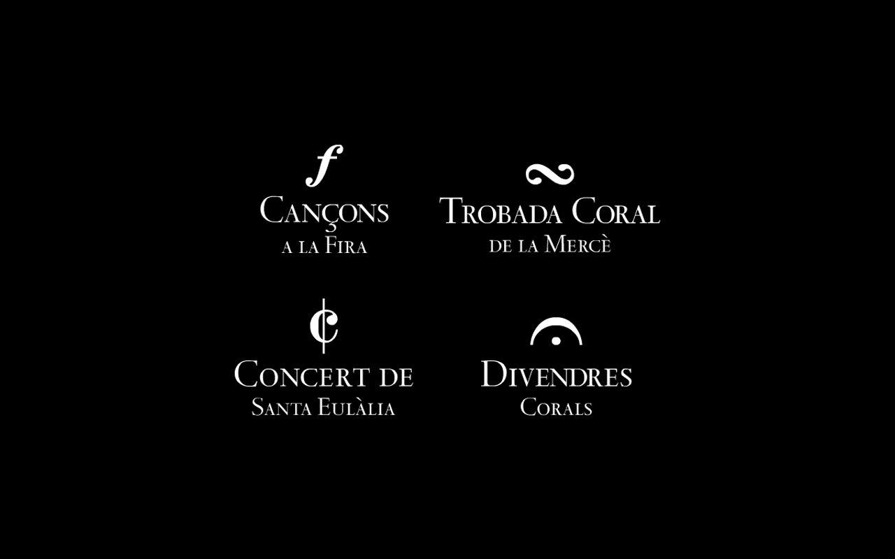 Marcas. Diseño editorial e identidad corporativa Maig Coral del Barcelonès