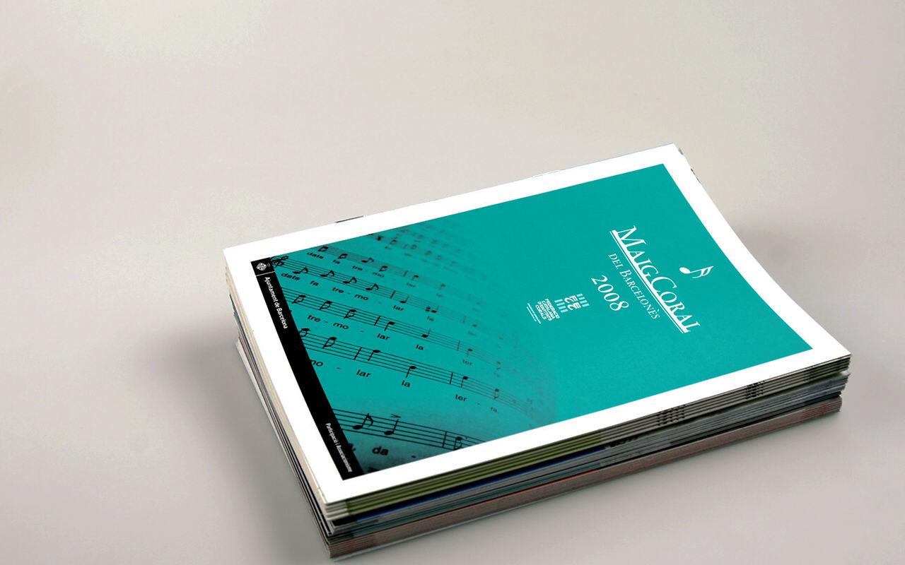 Programa de mano. Diseño editorial e identidad corporativa Maig Coral del Barcelonès