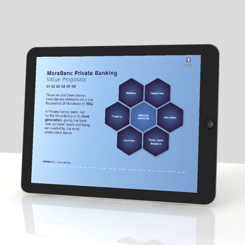 Private Banking. diseño apps tablets móviles. MoraBanc