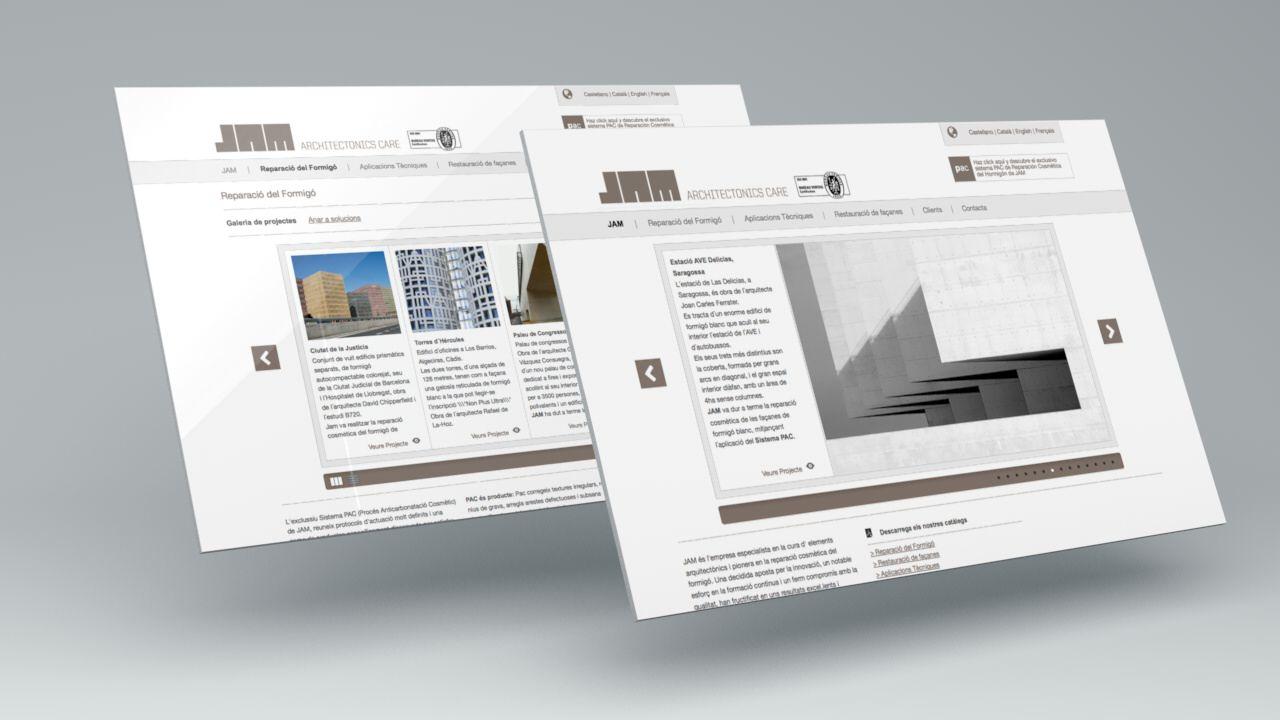 Pantallas. Diseño web, SEO y SEM JAM