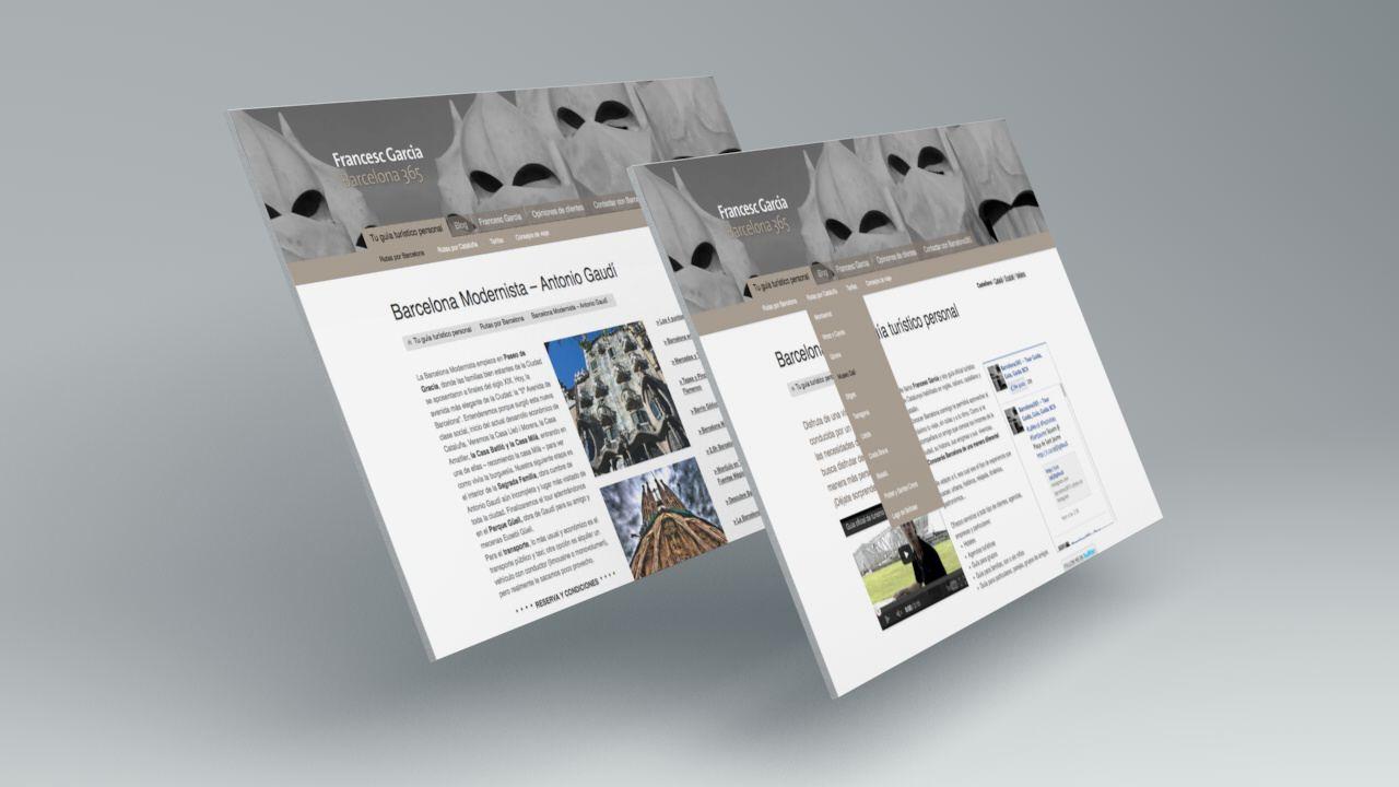 Pantallas. Diseño web, Barcelona 365 - Francesc Garcia