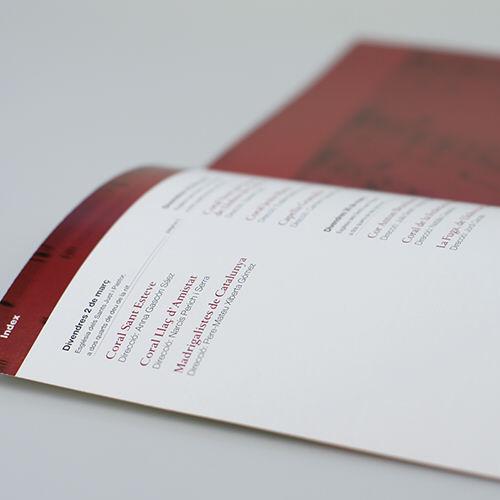 Detalle. Diseño editorial e identidad corporativa Maig Coral del Barcelonès