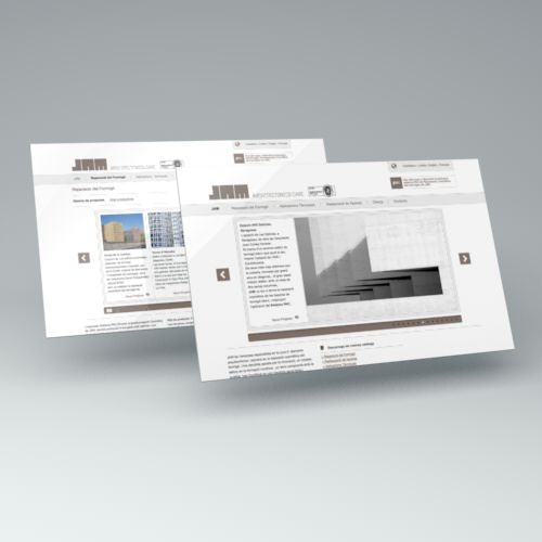página web. diseño web. JAM