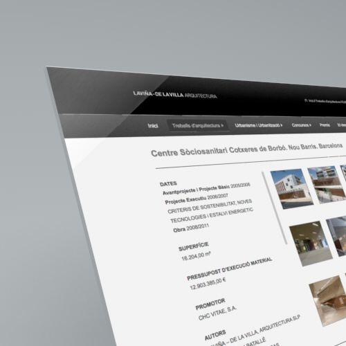 Detalle Pantallas. Diseño web Laviña de la Villa Arquitectura