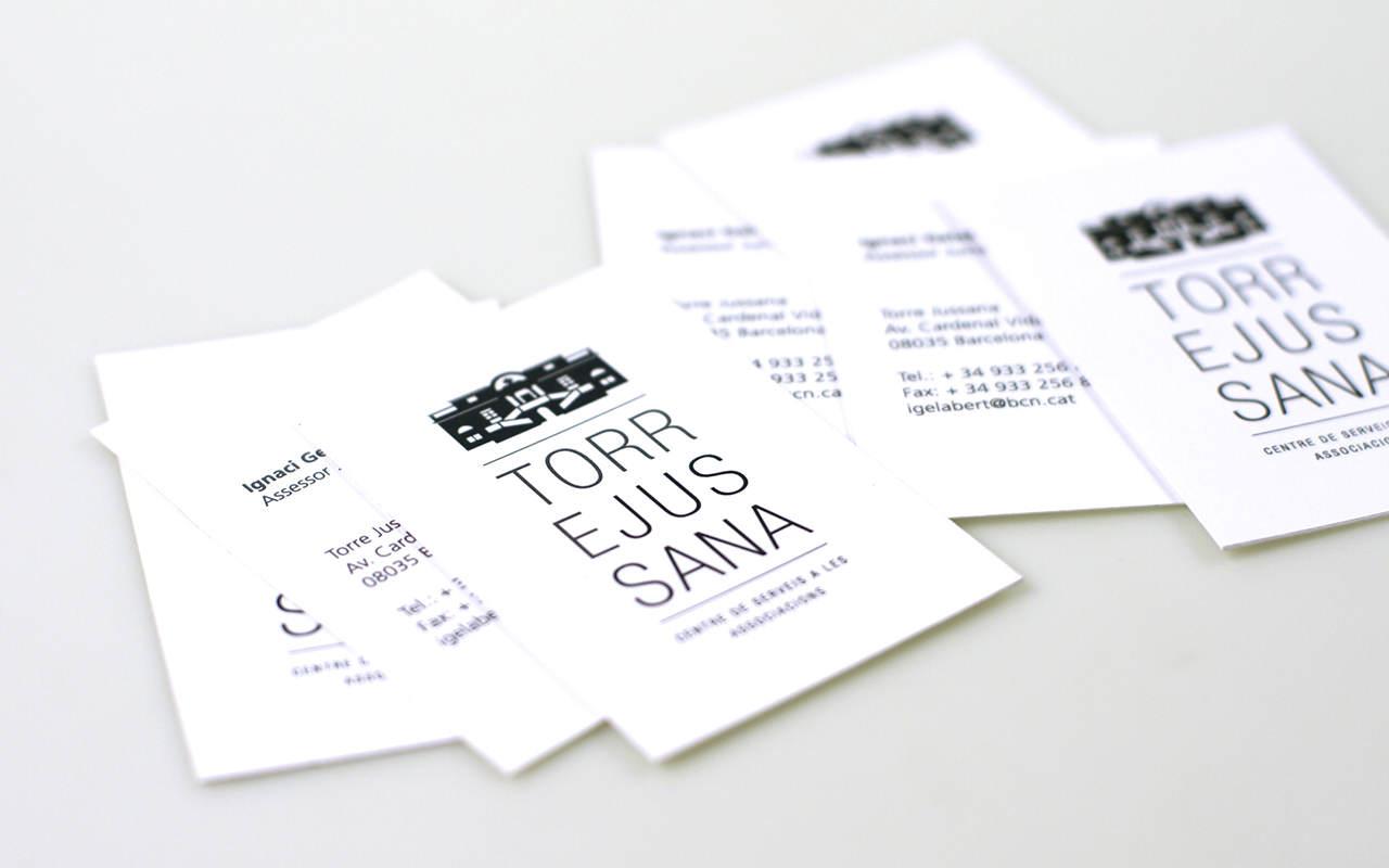 Tarjetas. Diseño Marca e Identidad Corporativa Barcelona - Torre Jussanna