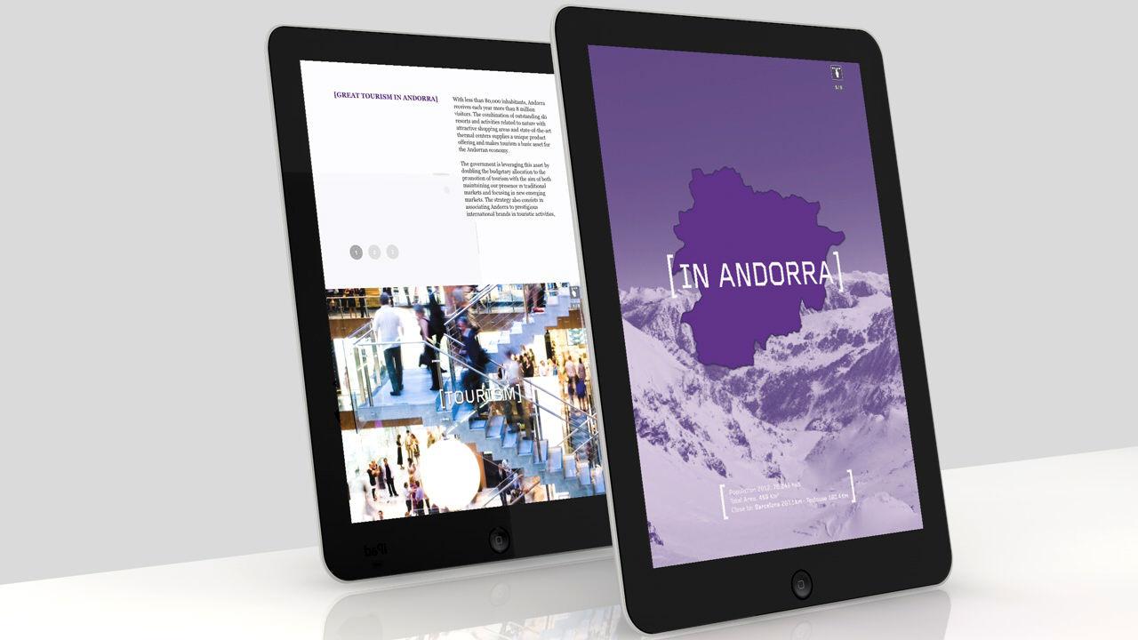 App Invest in Andorra. Pantallas