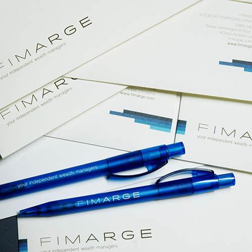 papeleria. diseño gráfico. fimarge
