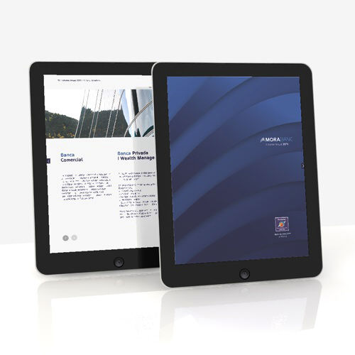 informe anual. diseño app tablet. morabanc