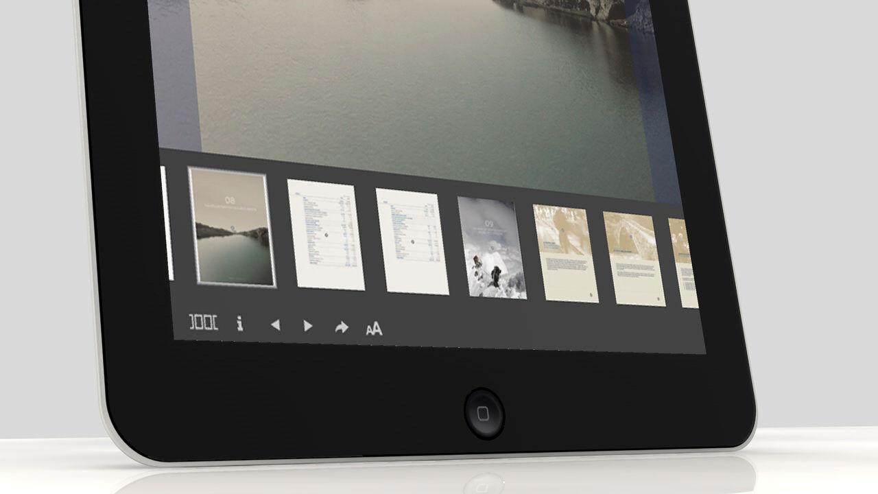 Detalle. Diseño app Morabanc Memoria Anual