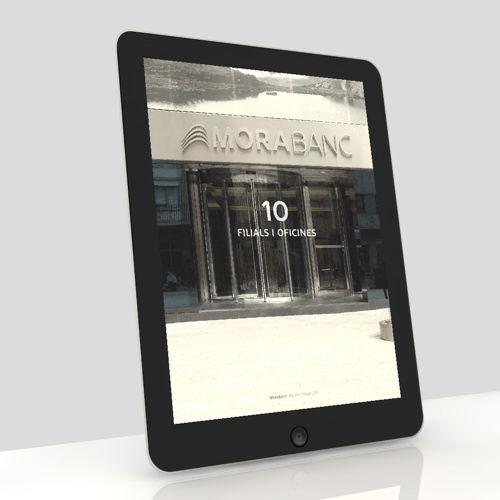 informe anual 2012. diseño app tablet. moraban