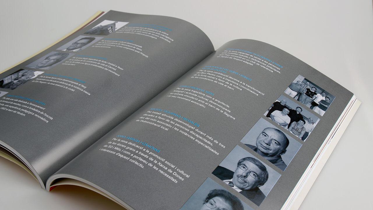 memoria anual. diseño editorial. ajuntament de barcelona