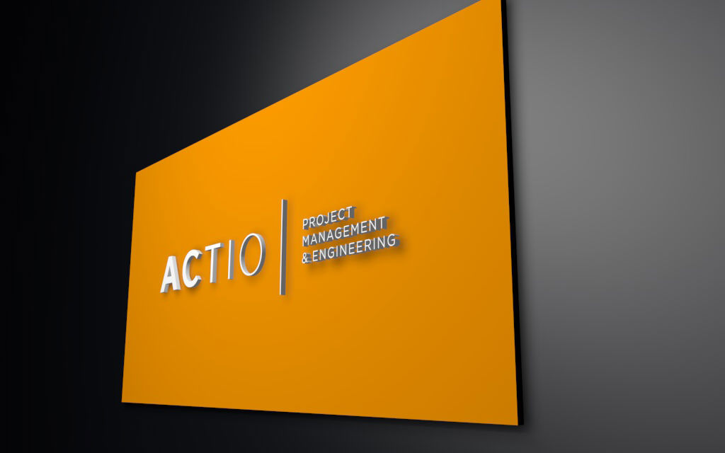 placa_logotipo. diseño identidad corporativa. actio