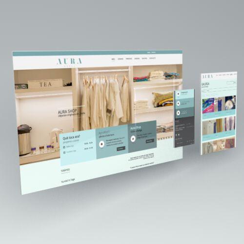 responsive. diseño web. aura espai