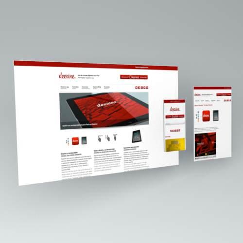 responsive. diseño web. deezine