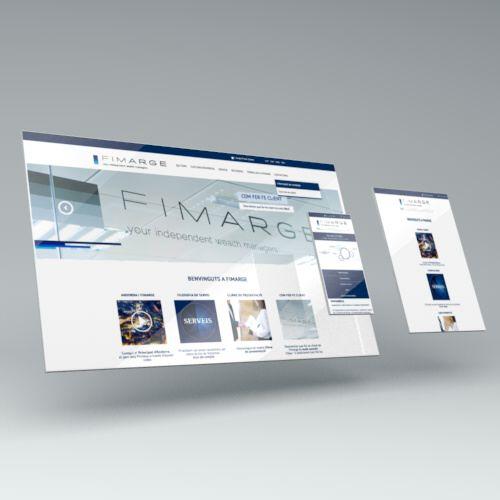 pagina web. diseño web. fimarge