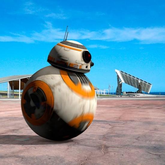 UFOs over Barcelona. Homenaje a Star Wars.