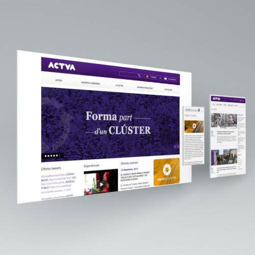 actua, diseño web, responsive