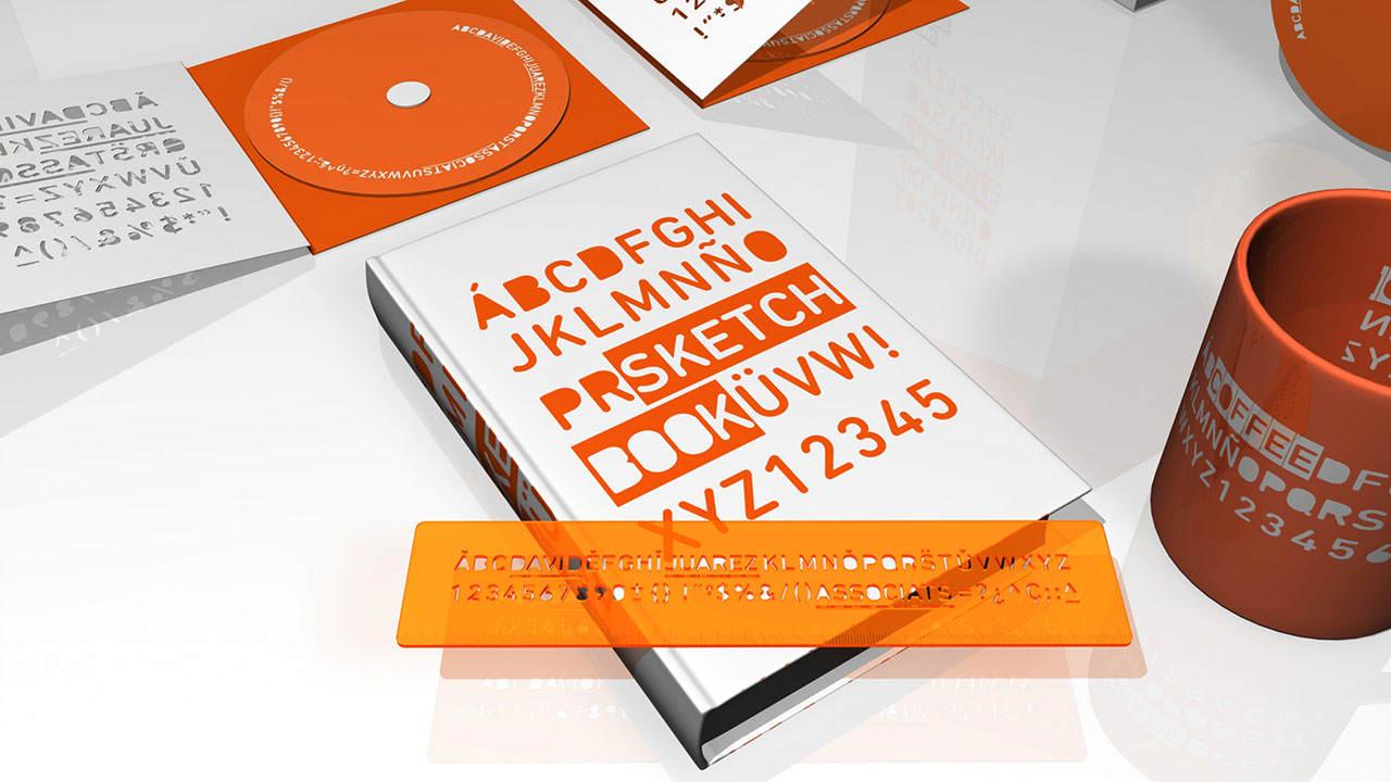 regla, sketch book, david juárez associats, diseño gráfico