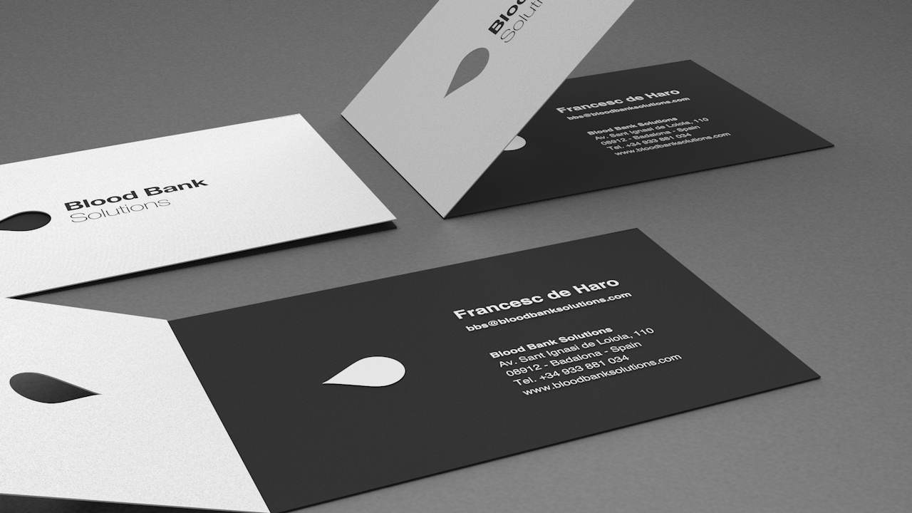 Diseño Identidad corporativa Barcelona -Blood Bank Solutions