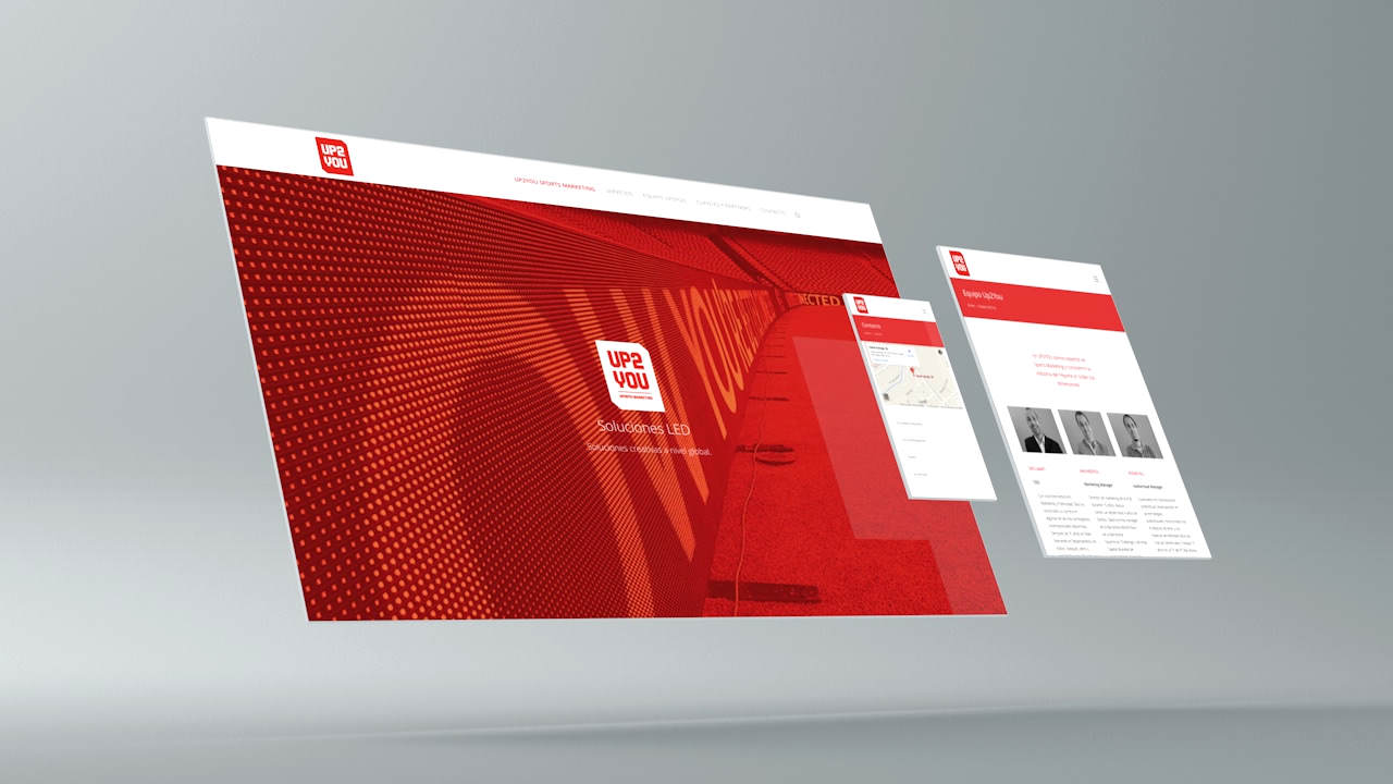 Diseño web UP2YOU. Responsive
