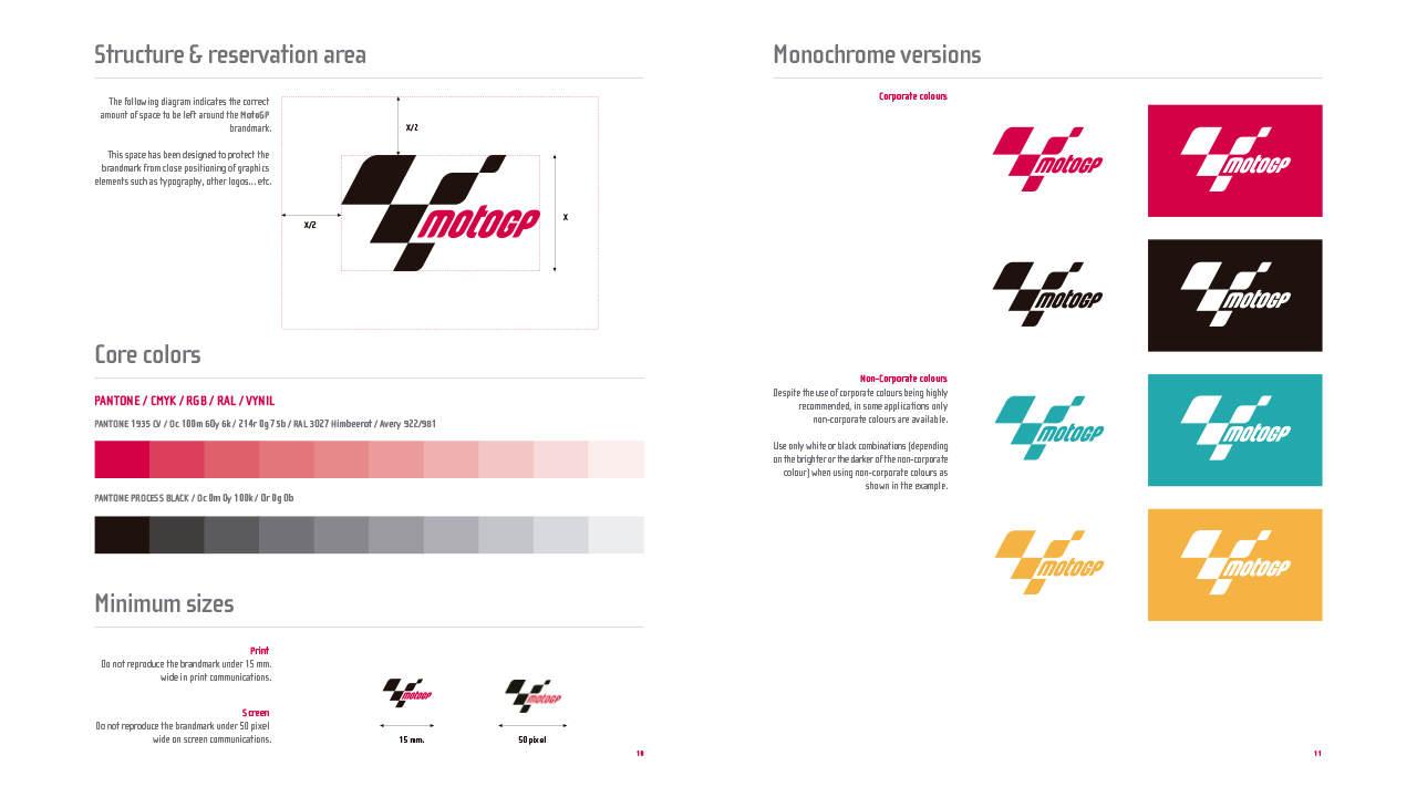 Diseño marca e identidad corporativa MotoGP