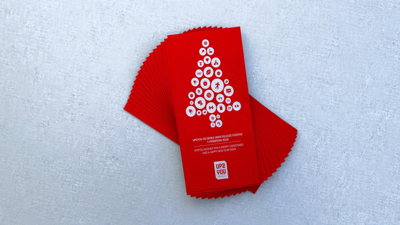 Diseño felicitación navidad UP2YOU