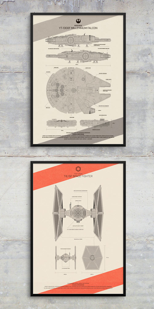 Diseño carteles Star Wars The Force Awakens Special Edition