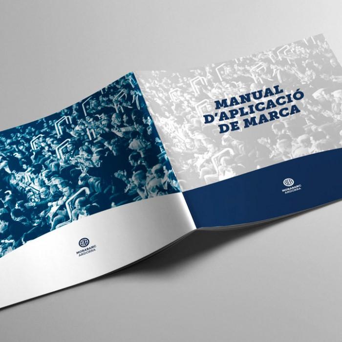 Diseño Manual de aplicación corporativa BCA Morabanc Andorra