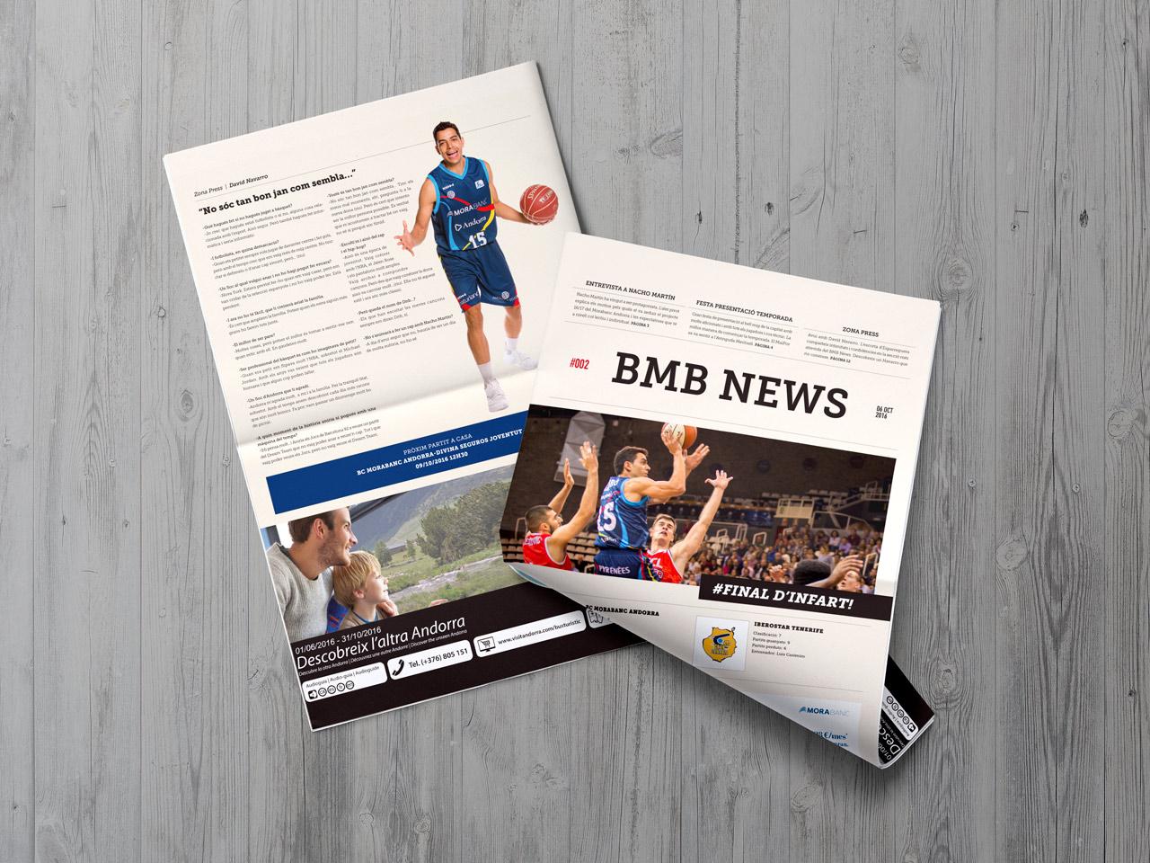 Diseño periódico BMB News