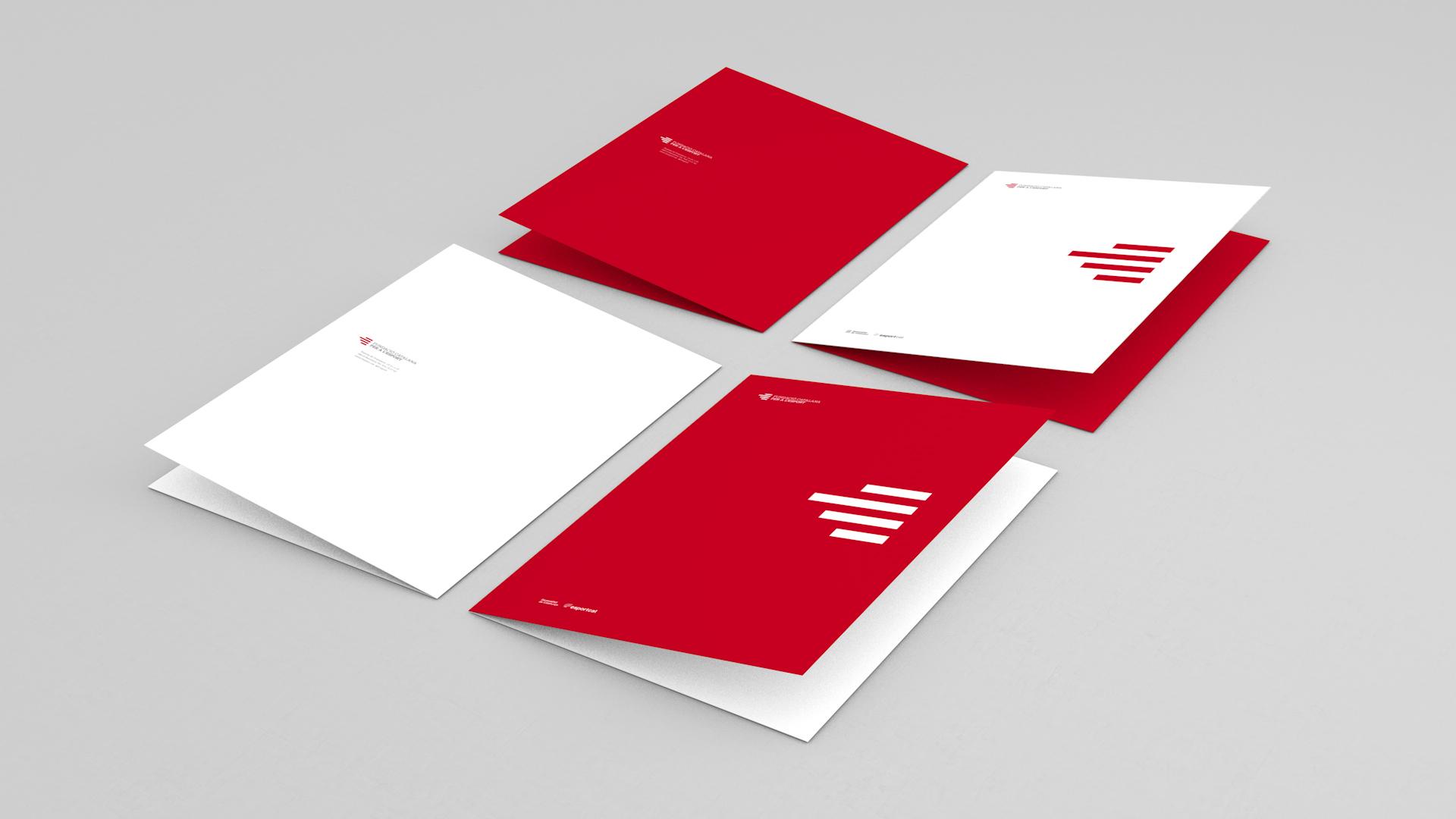 Diseño marca e identidad corporativa Fundació Catalana per a l'Esport - Carpetas
