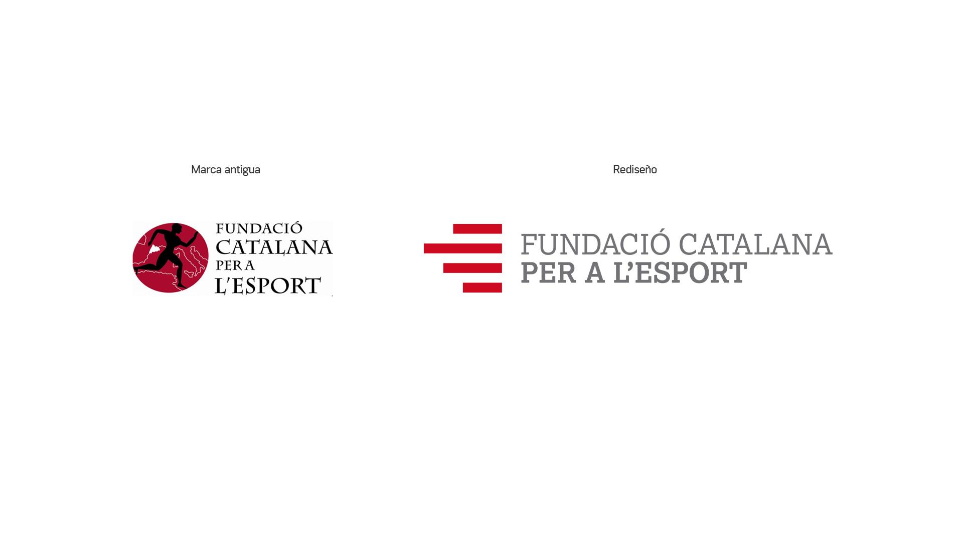 Diseño Marca Identidad corporativa Fundació Catalana per a l'Esport - Comparativa rediseño