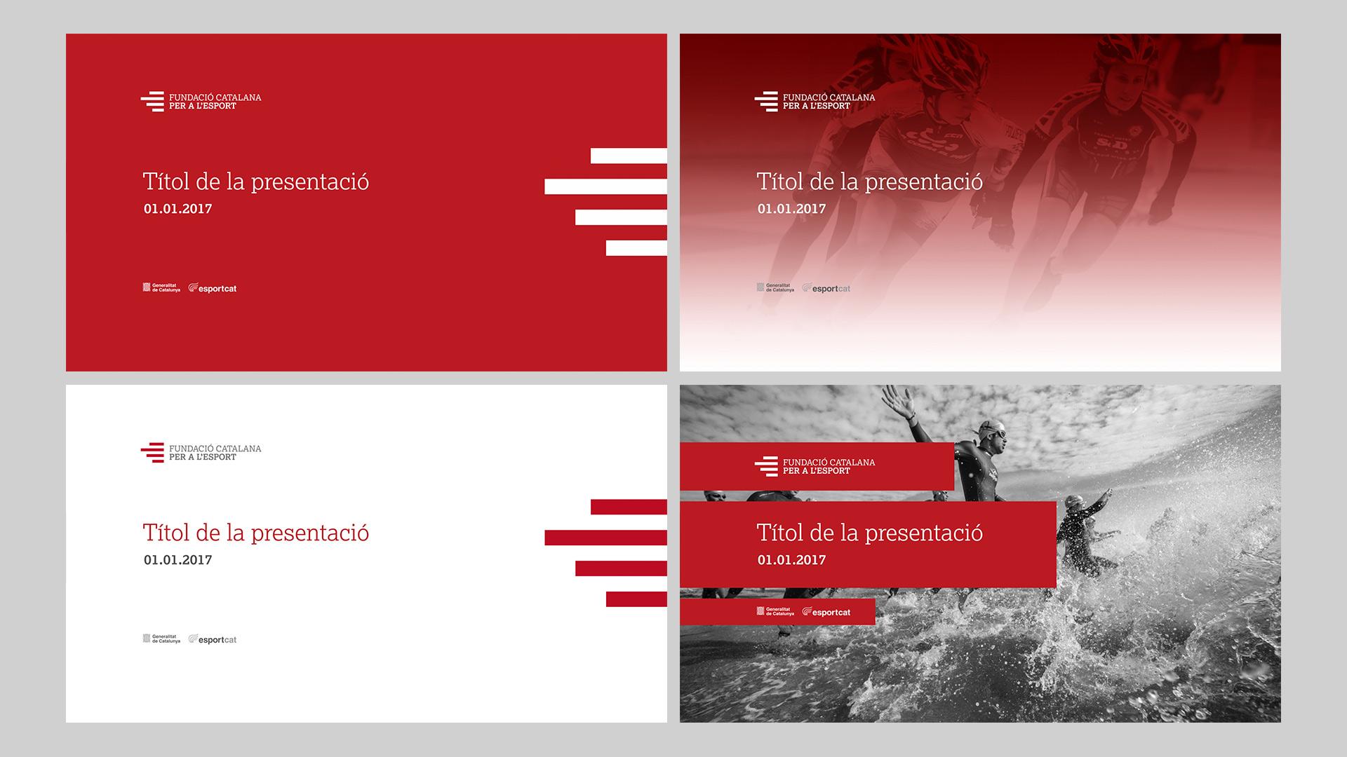 Diseño Marca Identidad corporativa Fundació Catalana per a l'Esport- Keynote