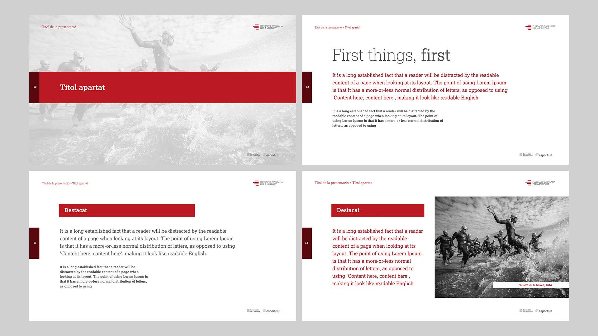 Diseño Marca Identidad corporativa Fundació Catalana per a l'Esport - Keynote