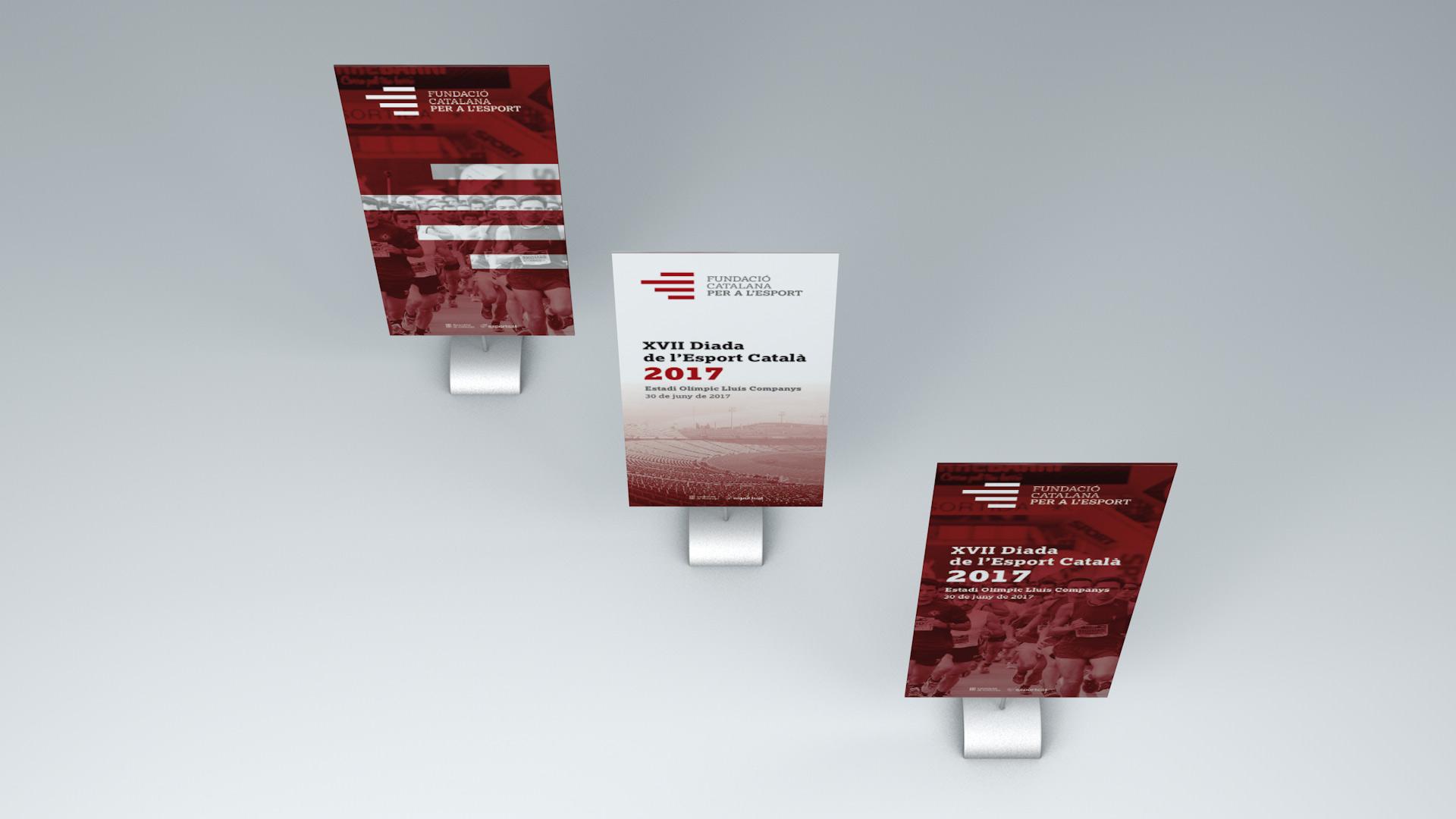Diseño marca e identidad corporativa Fundació Catalana per a l'Esport - Rollup