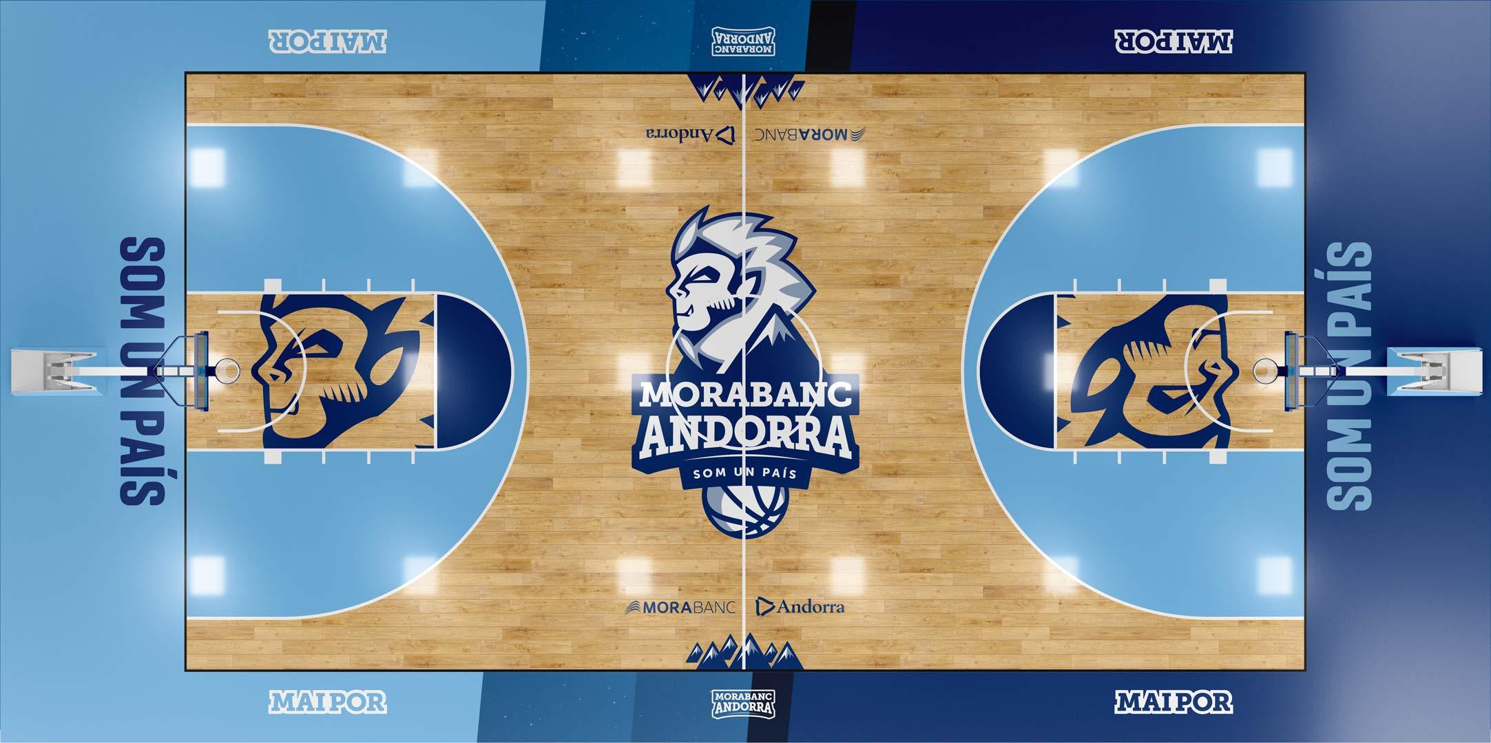 Rediseño Marca e Identidad Corporativa Morabanc Andorra- cancha