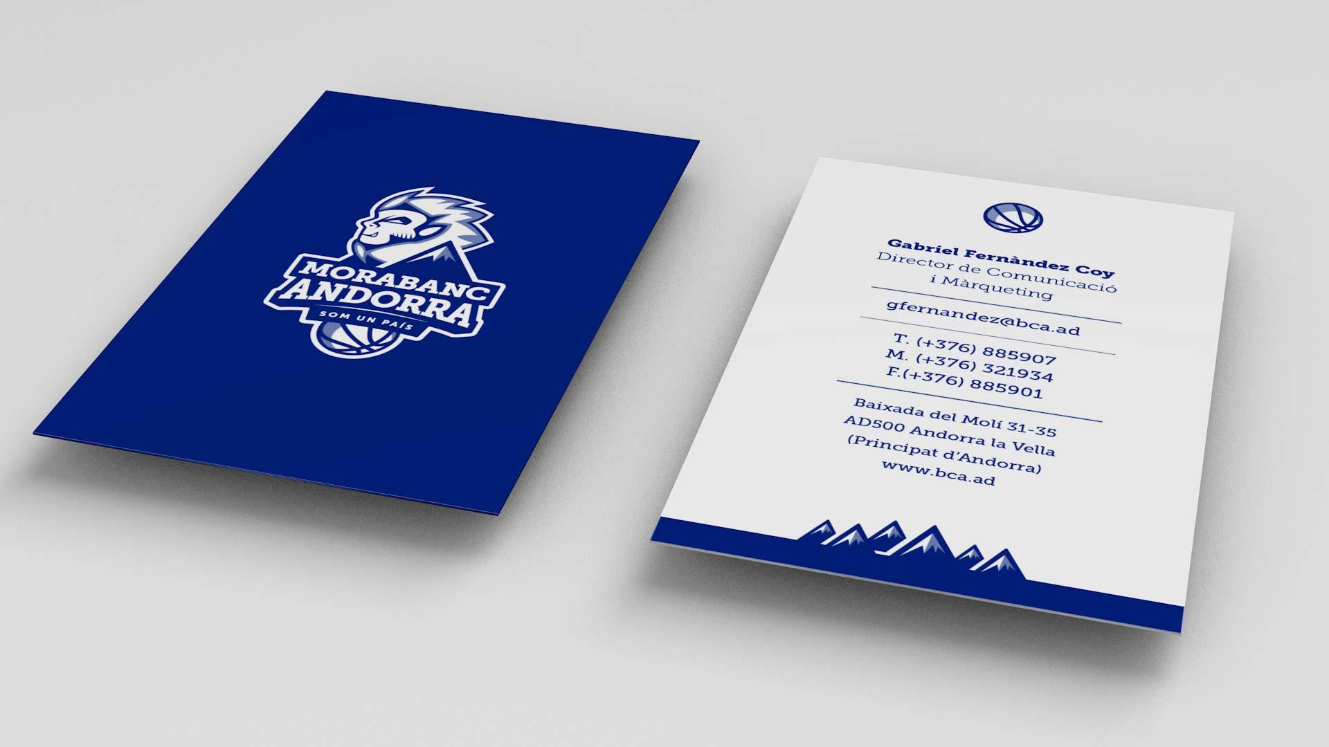 Rediseño Marca e Identidad Corporativa Morabanc Andorra - Tarjetas