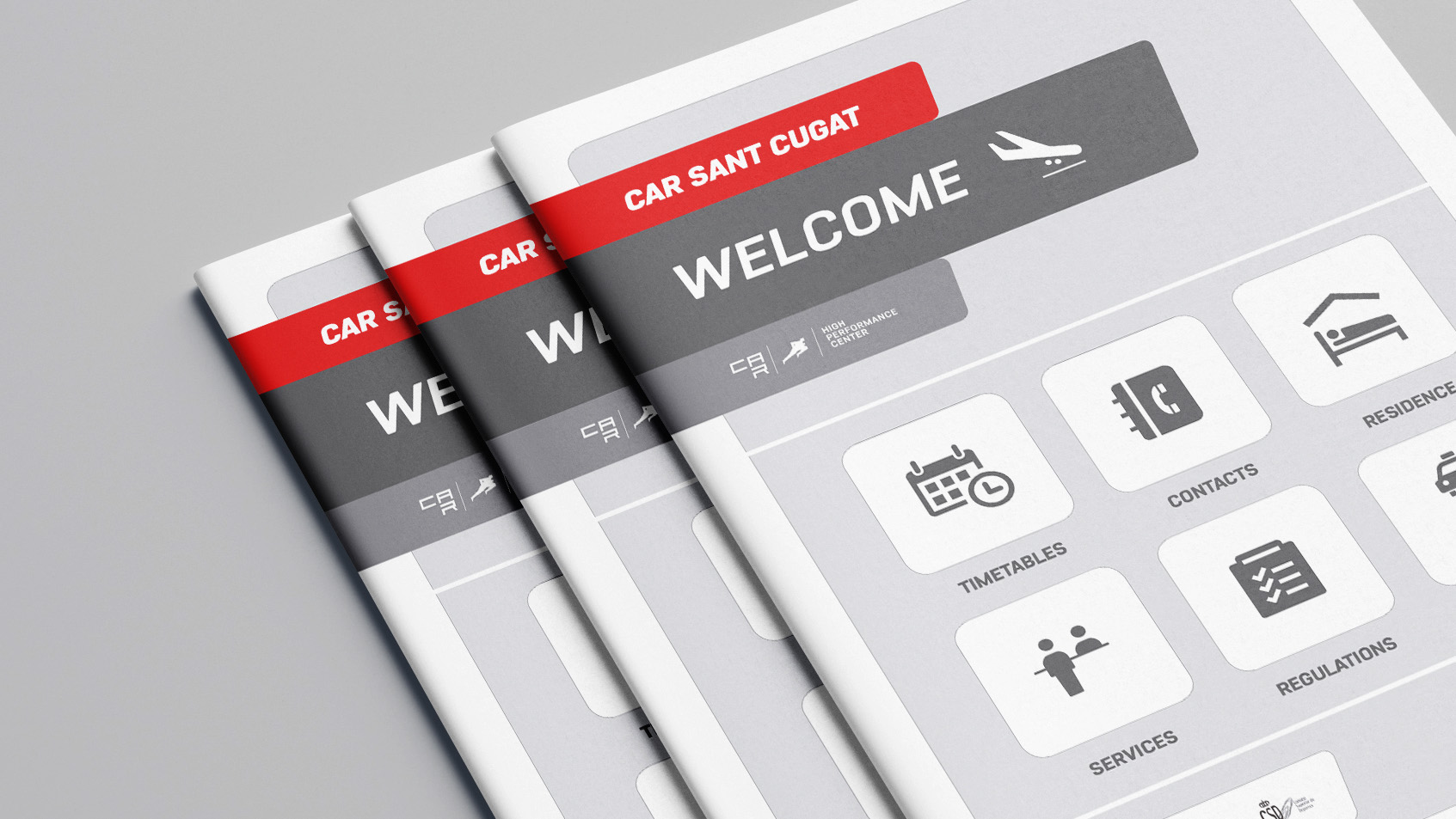 Diseño editorial Welcome Pack CAR Sant Cugat