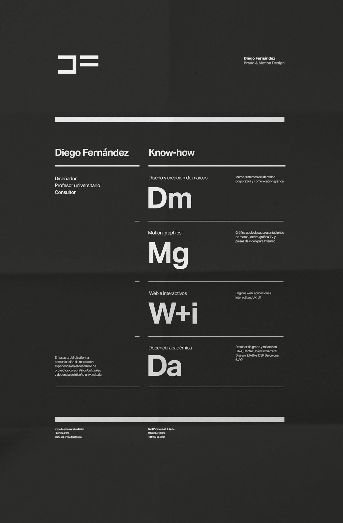 Poster Diego Fernández Brand & Motion Design