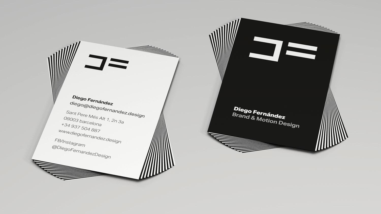 Tarjetas Diego Fernández Brand & Motion Design