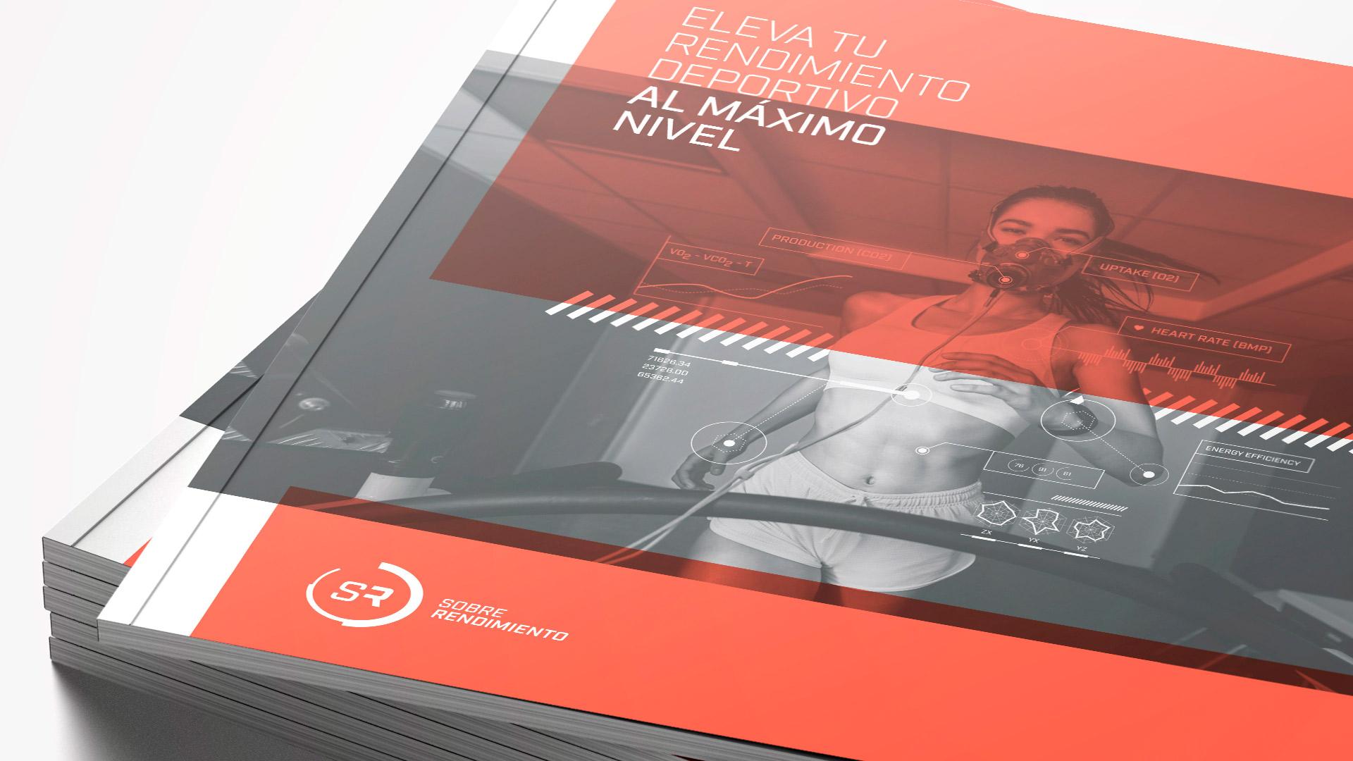 Diseño brochure editorial marca Sobre Rendimiento - Cover retail