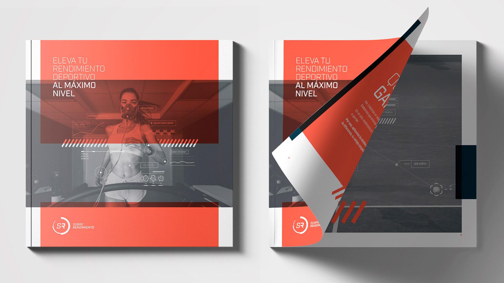 Diseño brochure editorial marca Sobre Rendimiento - Cover 2