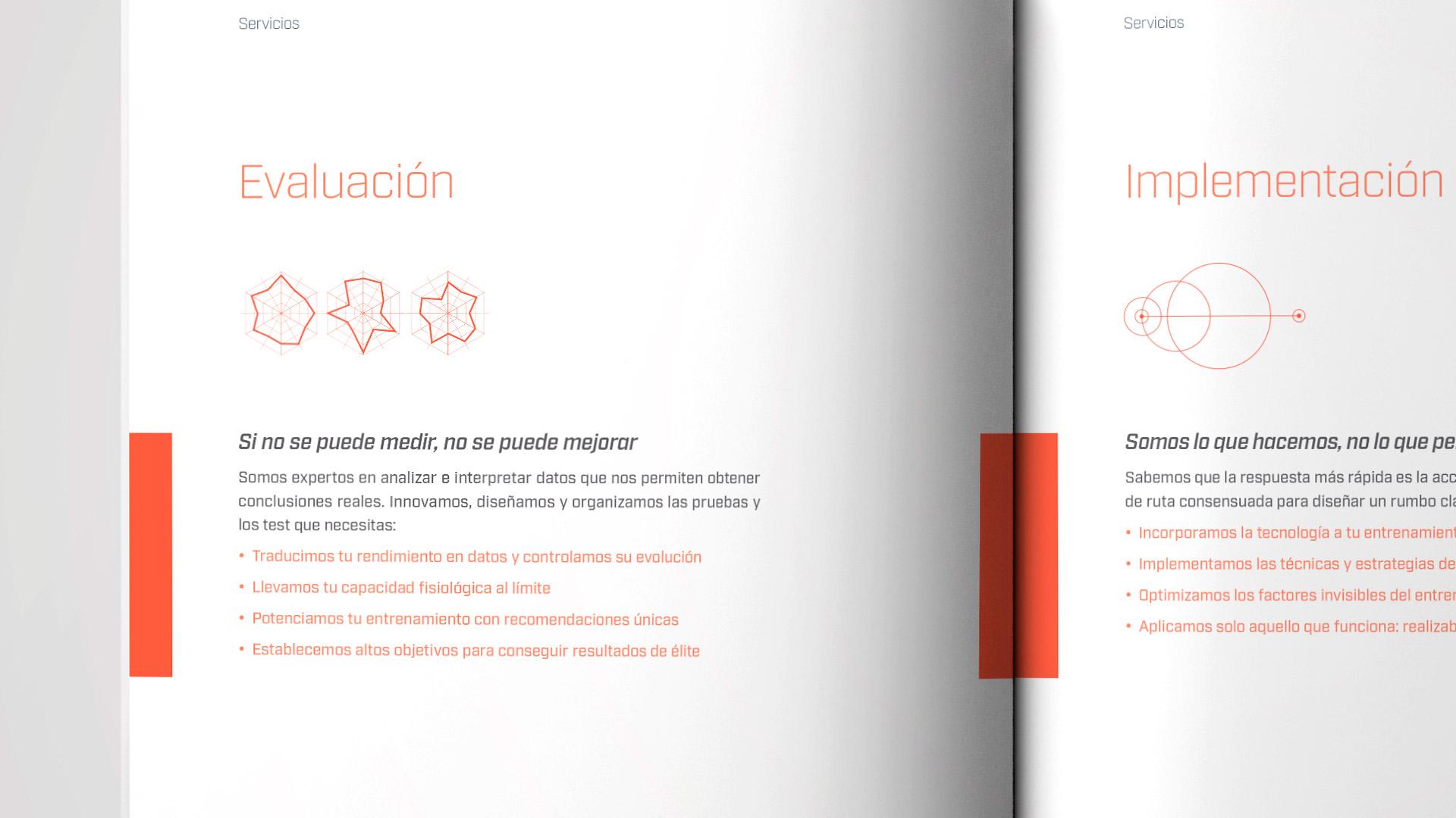 Diseño brochure editorial marca Sobre Rendimiento - interior