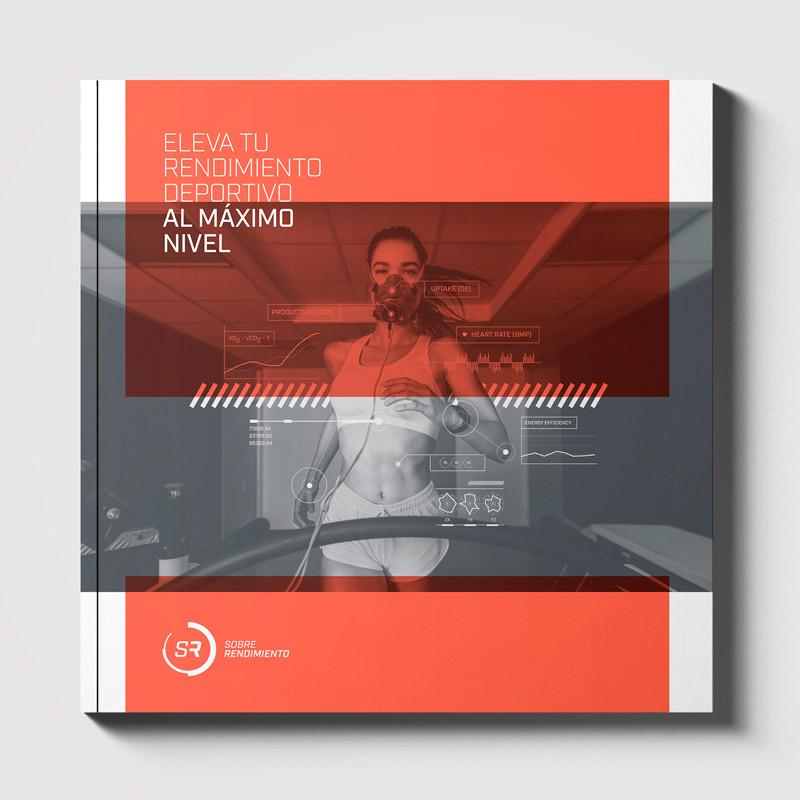 Diseño brochure editorial marca Sobre Rendimiento - Cover