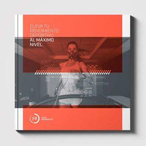 Diseño brochure editorial marca e identidad corporativa Barcelona Sobre Rendimiento - Cover