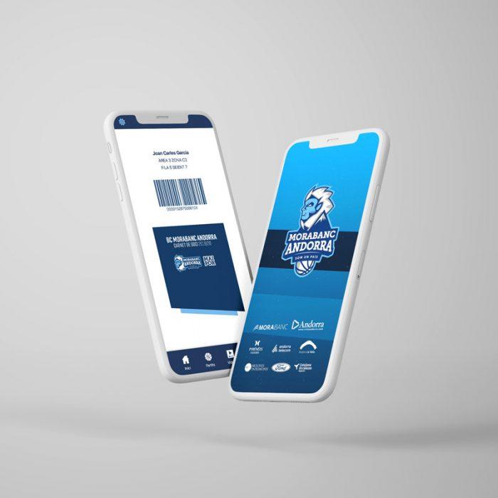 Diseño UX UI App Morabanc Andorra