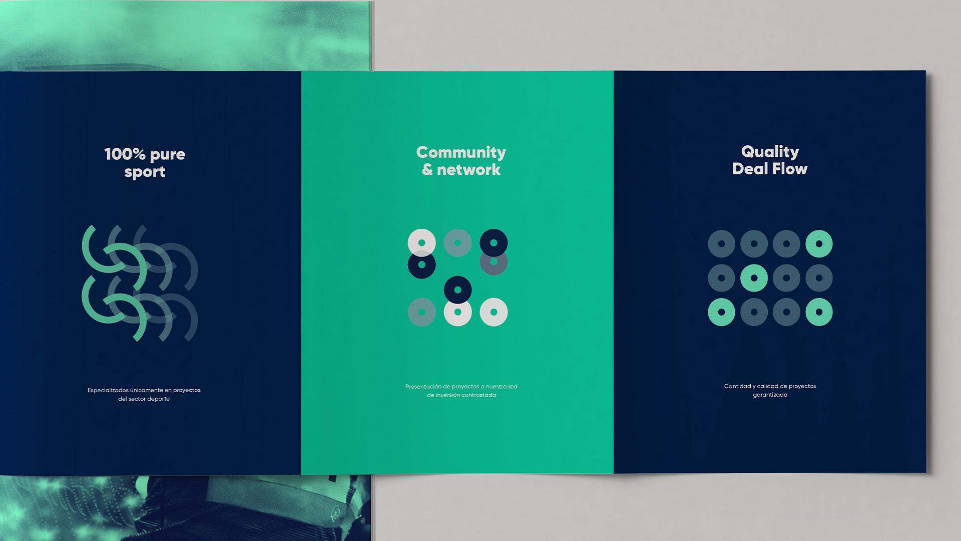 Diseño marca e identidad corporativa Crowd Sport - brochure 2