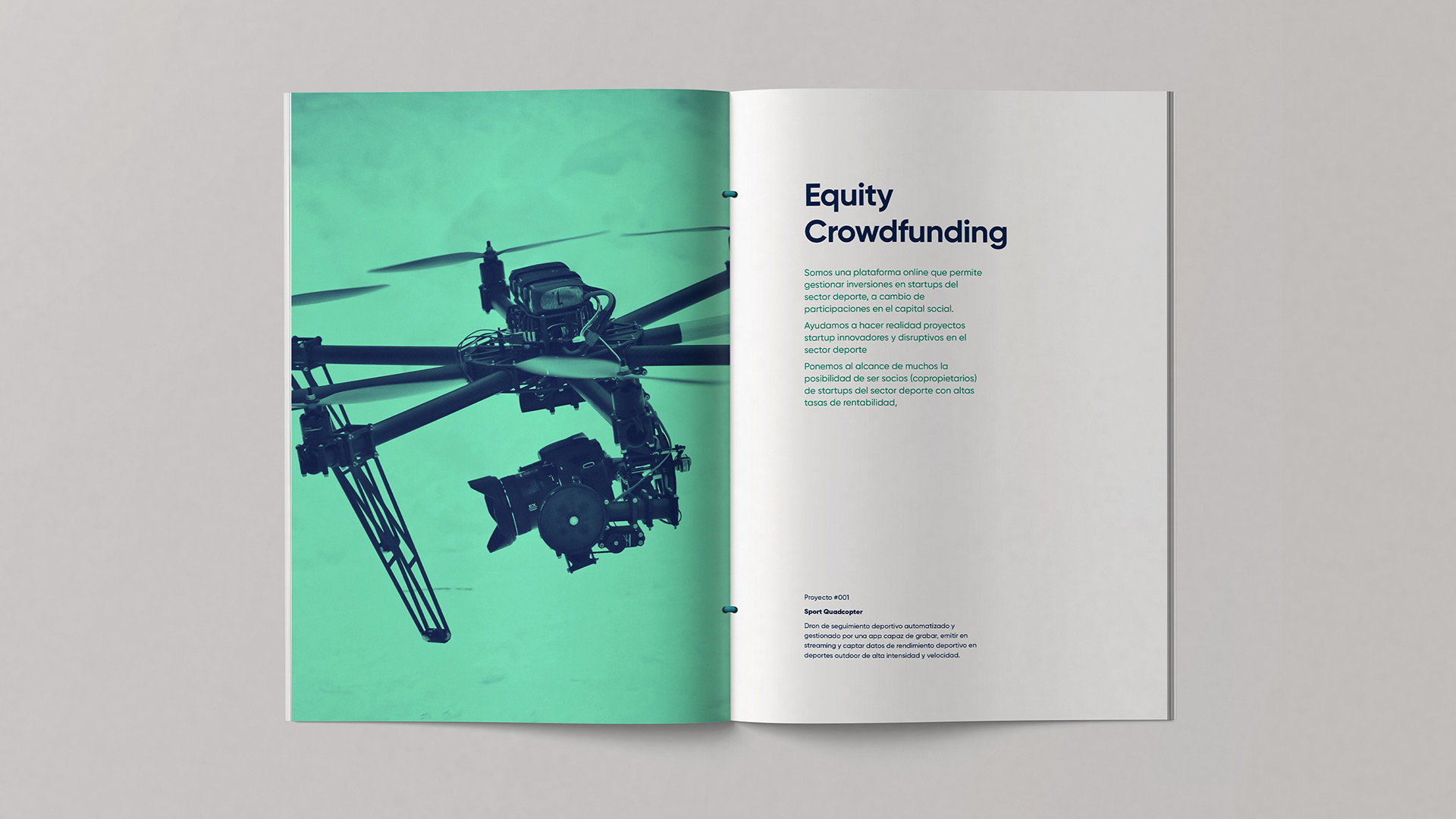 Diseño marca e identidad corporativa Crowd Sport - brochure